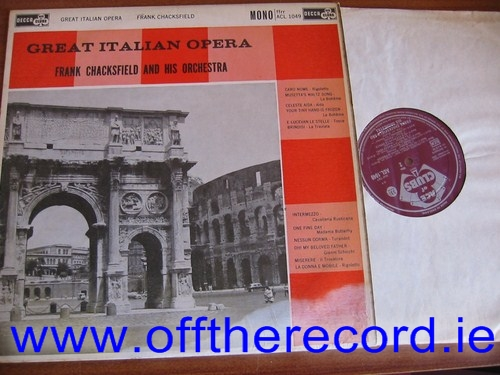 Frank Chacksfield - Great Italian Opers - Decca ACL 1049